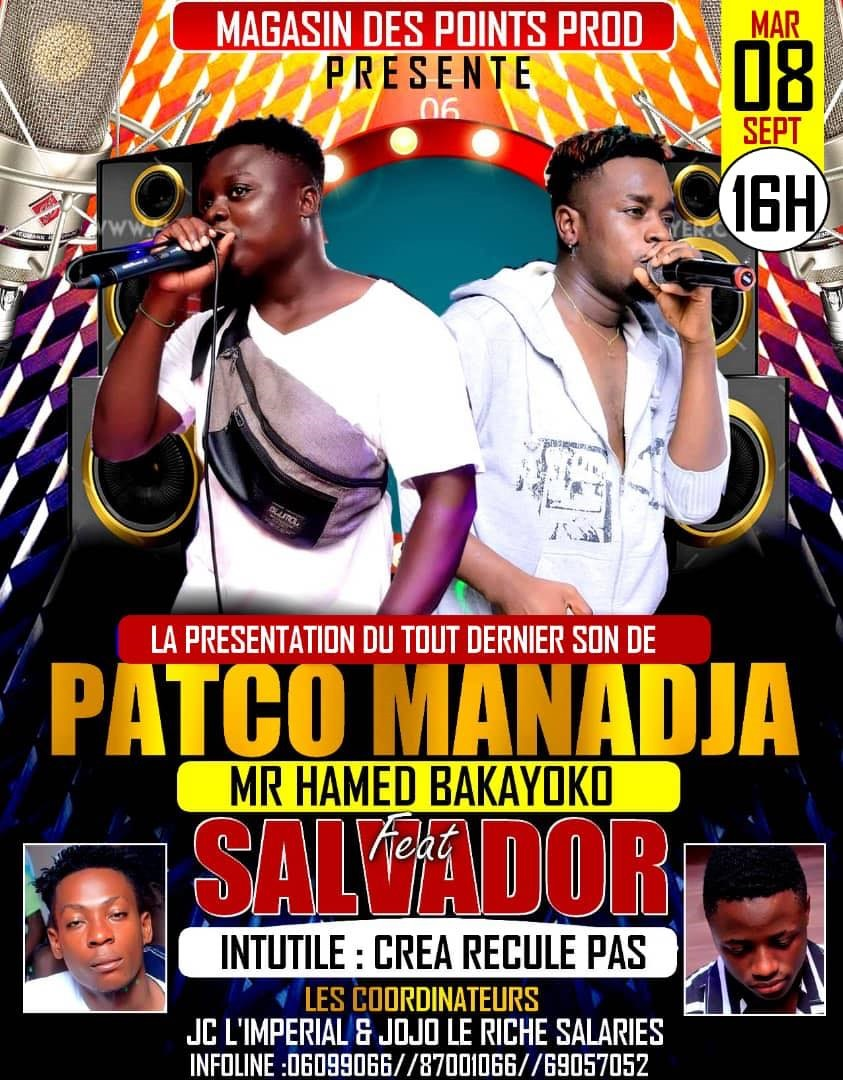 Patco Manadja (Mr Hamed bakayoko) feat Bb Salvador - Crea Recule Pas